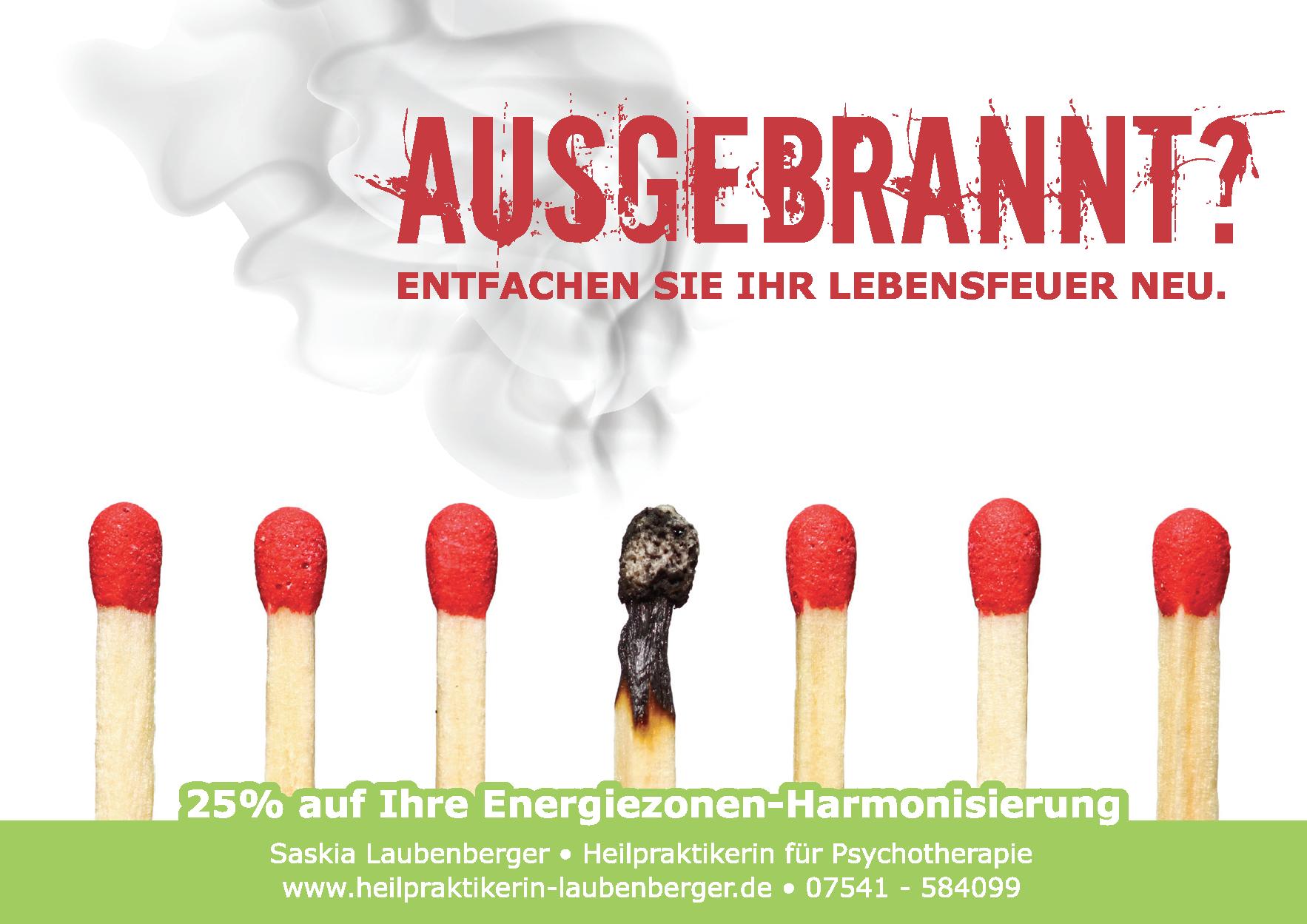 Ausgebrannt? 25% auf Ihre Energiezonen-Harmonisierung