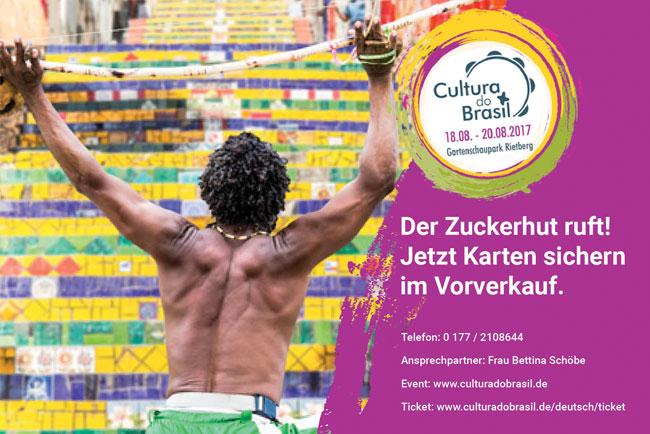 Flyer zum Festival Cultura do Brasil- Tickets im Vorverkauf billiger