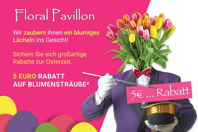 Floral Pavillon zaubern Ihnen ein blumiges Lächeln ins Gesicht!