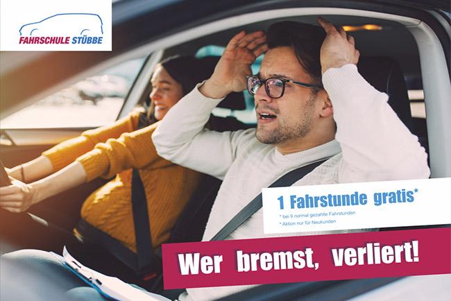 1 Fahrstunde gratis bei 9 normal gezahlten Fahrstunden