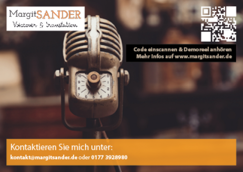 Firmenprofil von: Margit Sander - Sprecherin für Werbung, Präsentationen und Übersetzungen