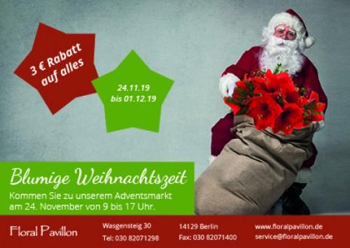 Firmenprofil von: Blumige Weihnachtszeit – 3 Euro Rabatt auf alles