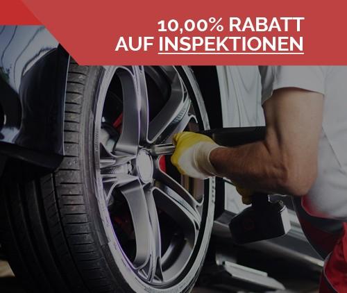 Firmenprofil von: Automobile Wolff gewährt Ihnen zehn Prozent Rabatt auf Ihre Kfz-Inspektion.