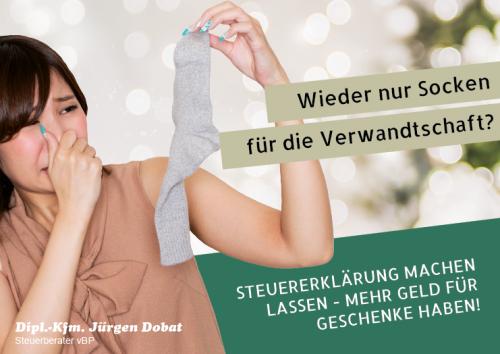 Firmenprofil von: Wieder nur Socken für die Verwandschaft? Steuererklärung machen lassen und mehr Geld für Geschenke haben!