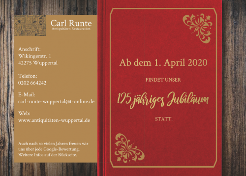 Firmenprofil von: 125 Jahre Carl Runte Antiquitäten Restauration