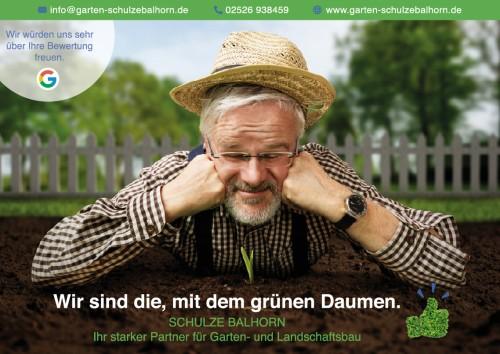 Firmenprofil von: Wir sind die, mit dem grünen Daumen - Schulze Balhorn Garten- und Landschaftsbau