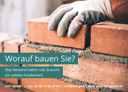 Firmenprofil von: Worauf bauen Sie? Was Bestand haben soll, braucht ein solides Fundament.